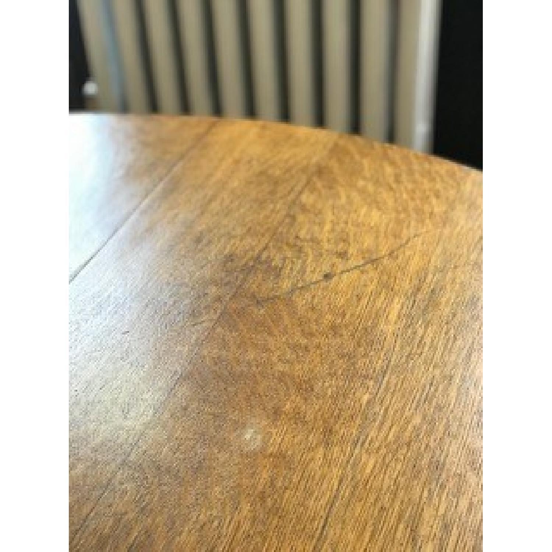 Stickley Gustav Round Oak Dining Table - image-5