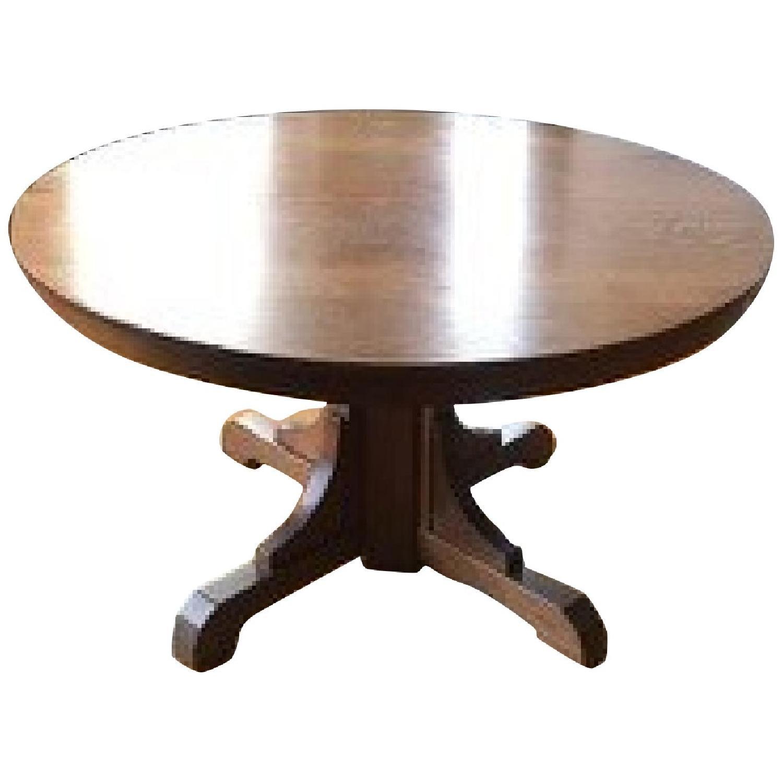 Stickley Gustav Round Oak Dining Table - image-0