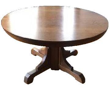 Stickley Gustav Round Oak Dining Table