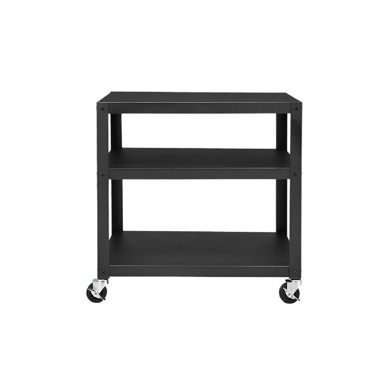 CB2 Go-Cart Dark Gray Rolling Cart