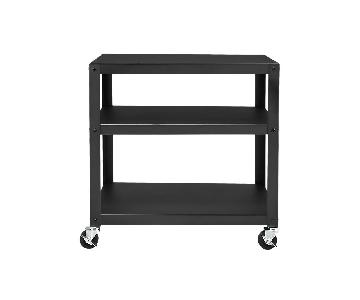 CB2 Go-Cart Dark Gray Rolling Cart