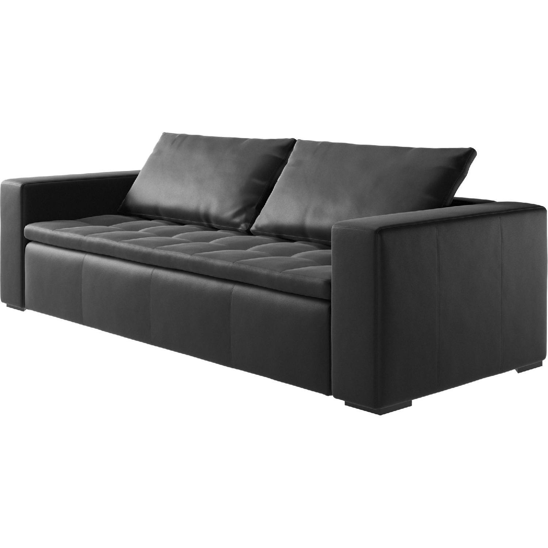 BoConcept Mezzo Black Leather Sofa - image-3