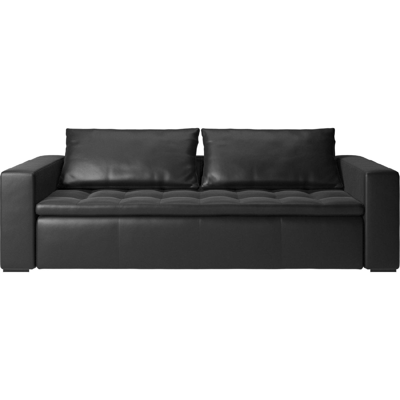 BoConcept Mezzo Black Leather Sofa - image-0