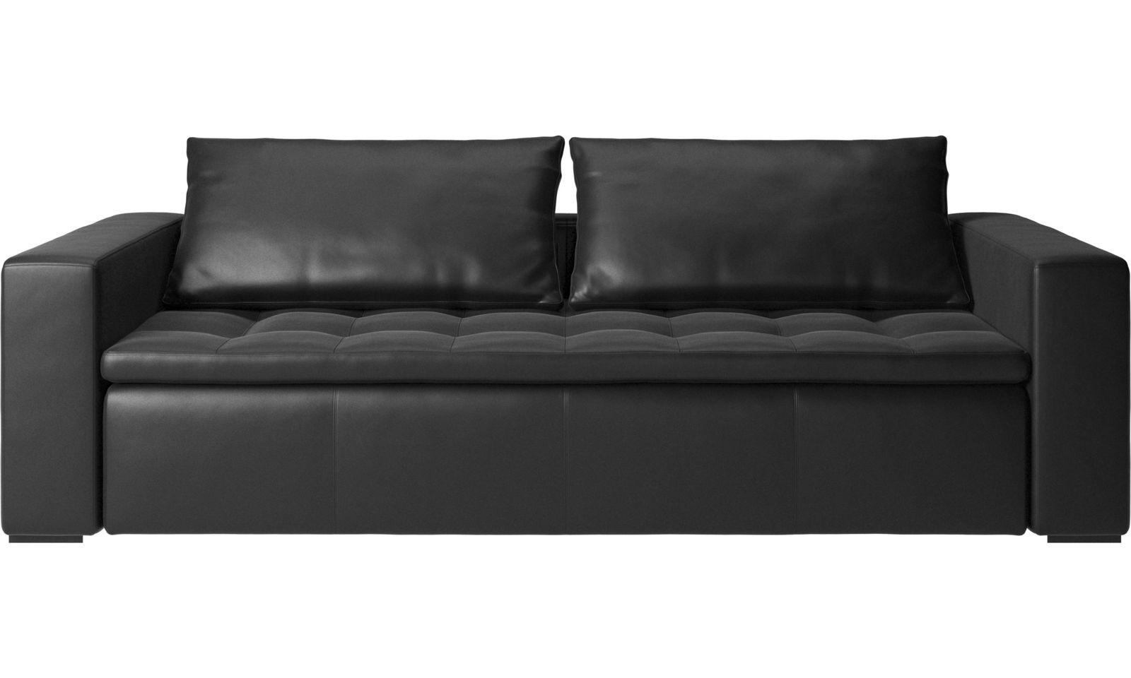 BoConcept Mezzo Black Leather Sofa