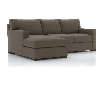 Crate & Barrel Axis II Sleeper Sectional Sofa