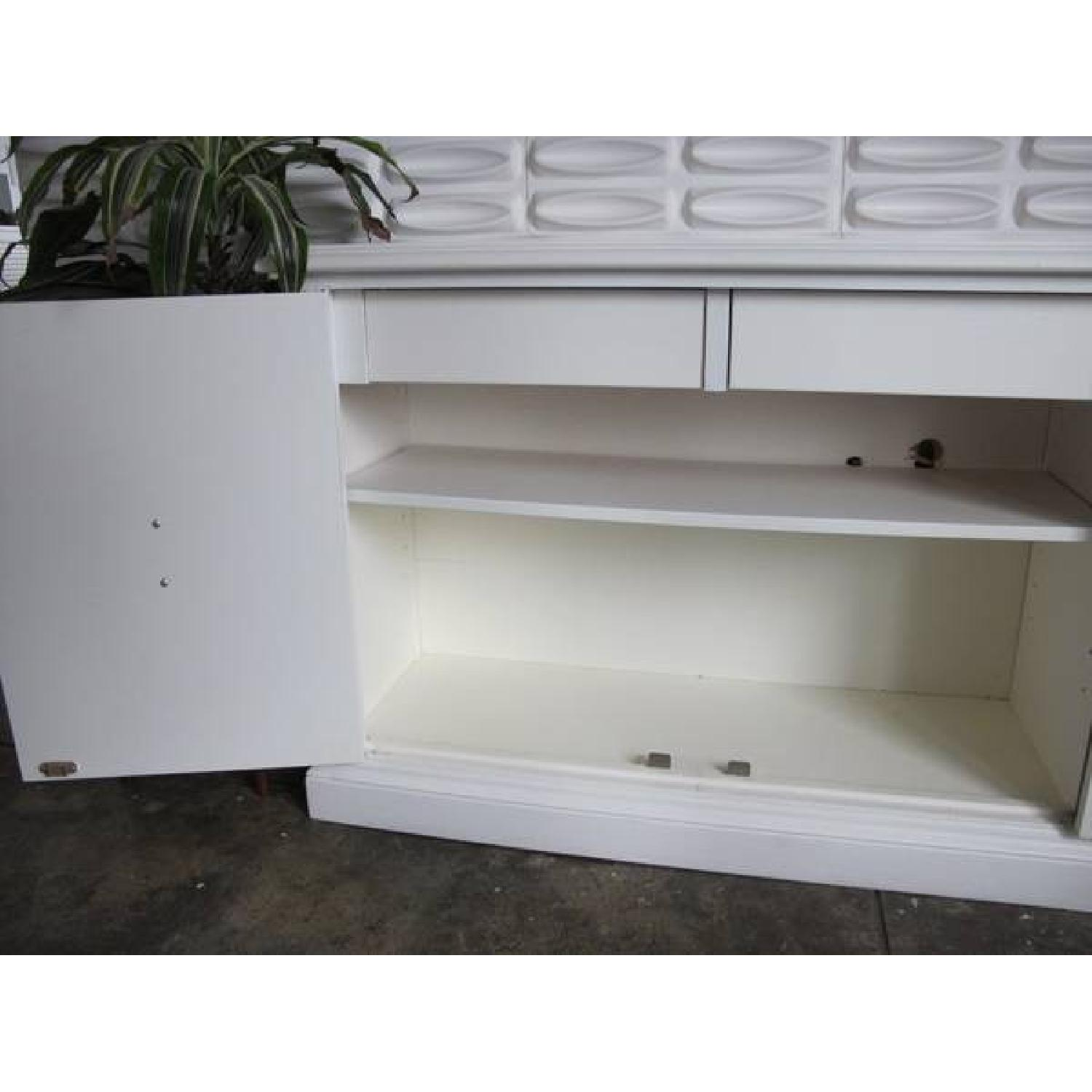 White Industrial Metal Credenza - image-7