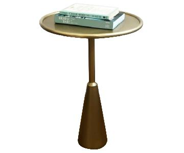 CB2 Brass Side Table