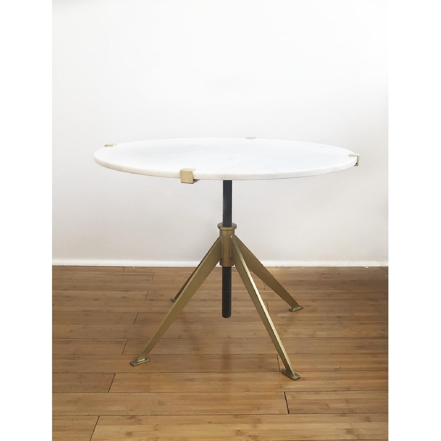 Modern Marble Top Side Table - image-1