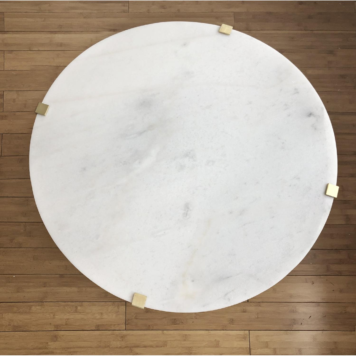 Modern Marble Top Side Table - image-2