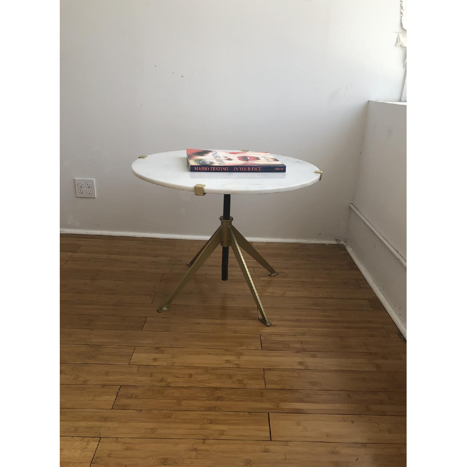 Modern Marble Top Side Table - image-4