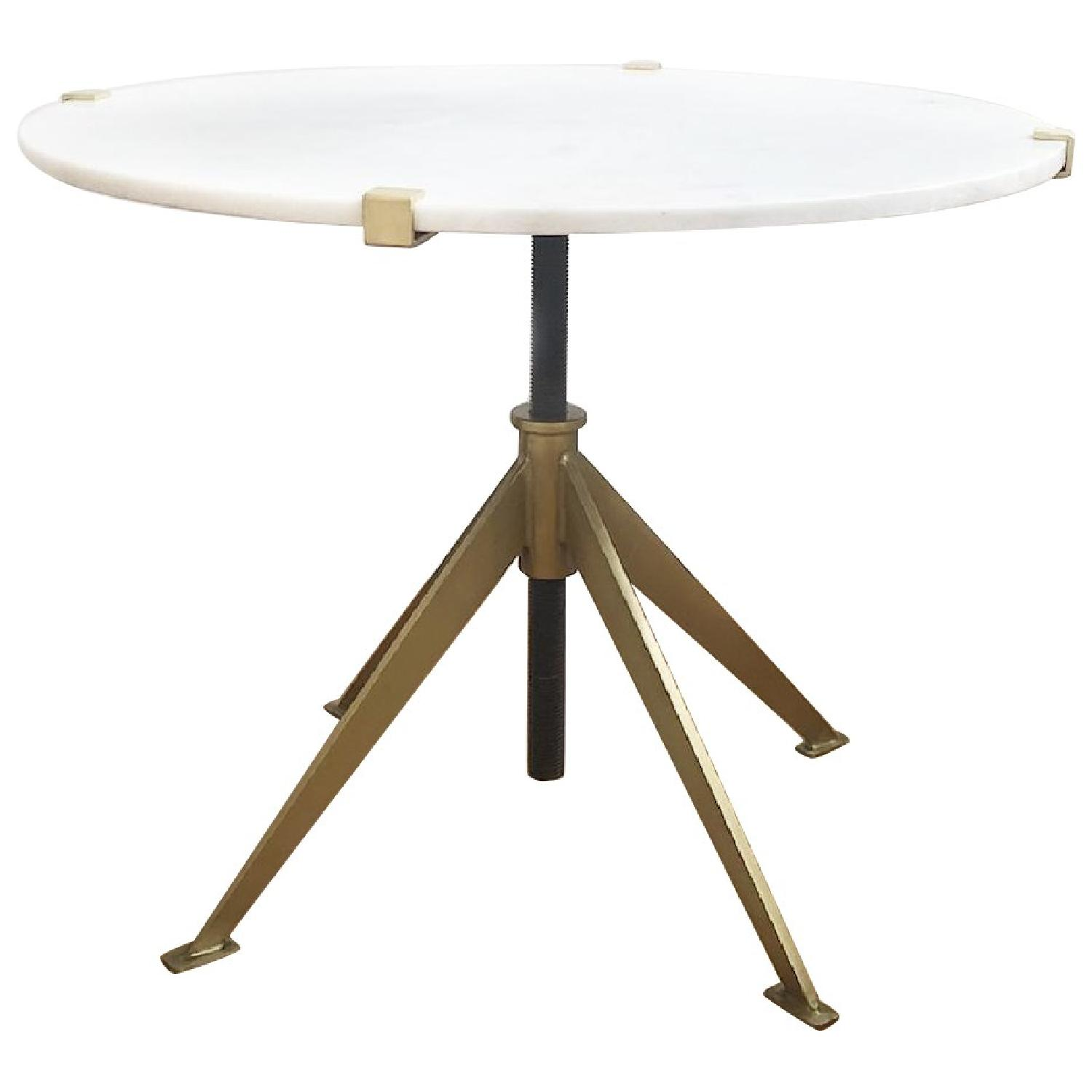 Modern Marble Top Side Table - image-0