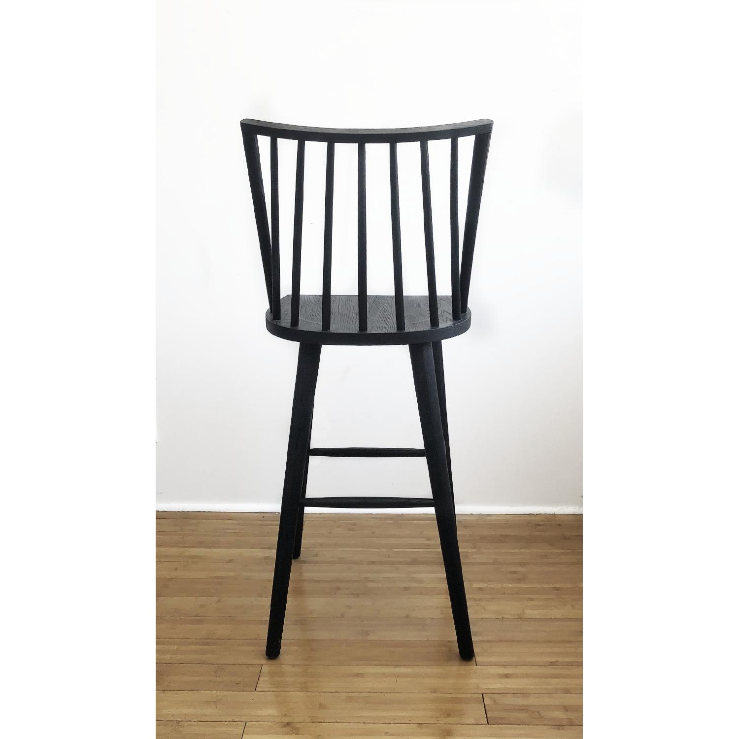Crate & Barrel Modern Black Oak Windsor Bar Stool - image-2