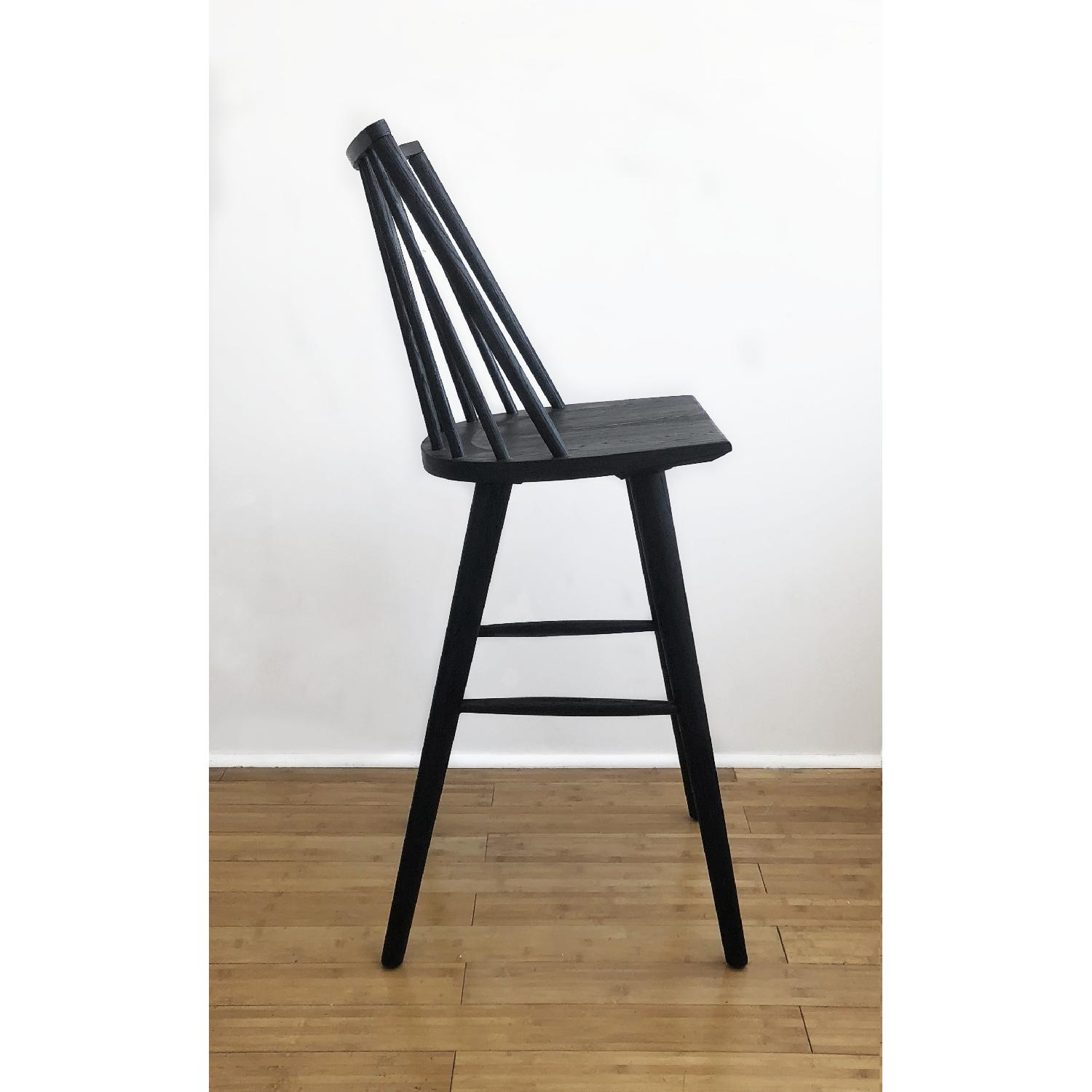Crate & Barrel Modern Black Oak Windsor Bar Stool - image-3
