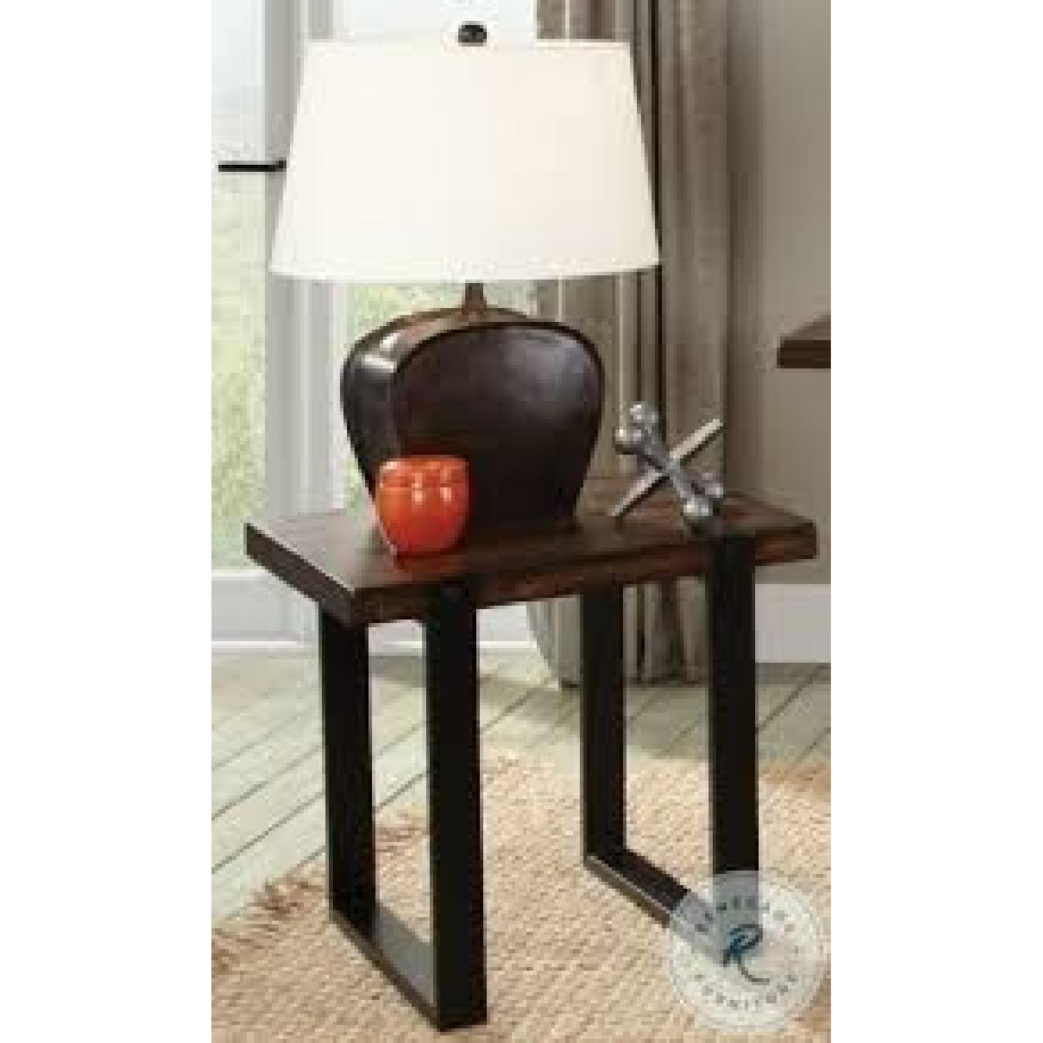 Vintage Brown Mahogany Solids End Table - image-1