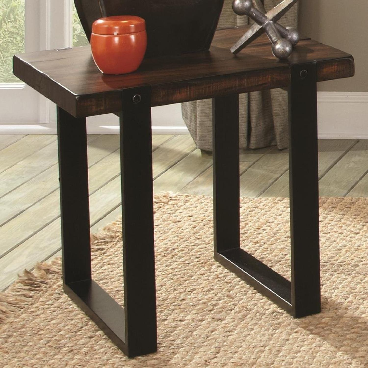 Vintage Brown Mahogany Solids End Table - image-2