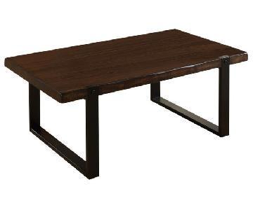 Vintage Brown Mahogany Solids Coffee Table