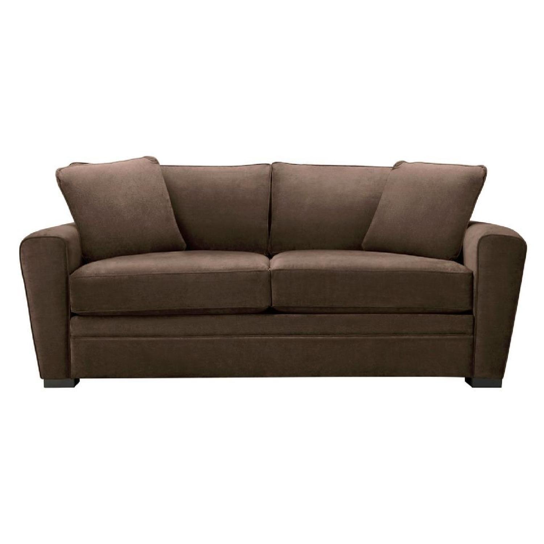 Raymour & Flanigan Full Microfiber Sleeper Sofa - image-0