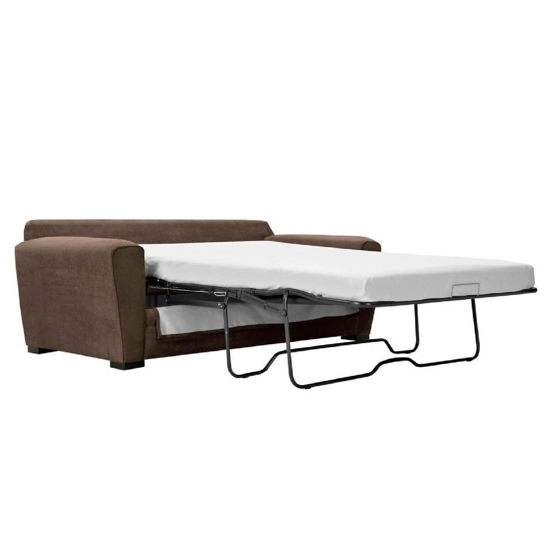 Raymour & Flanigan Full Microfiber Sleeper Sofa - image-1