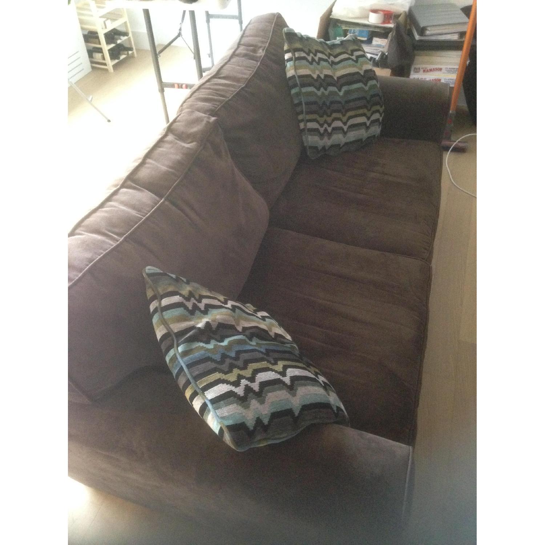 Raymour & Flanigan Full Microfiber Sleeper Sofa - image-2