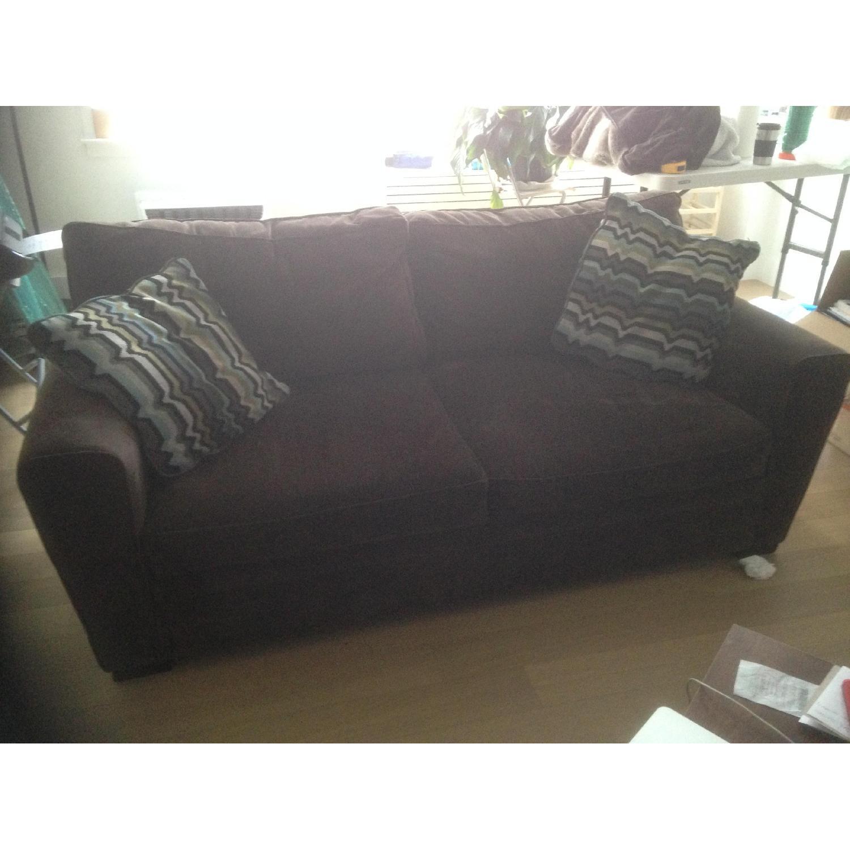 Raymour & Flanigan Full Microfiber Sleeper Sofa - image-4