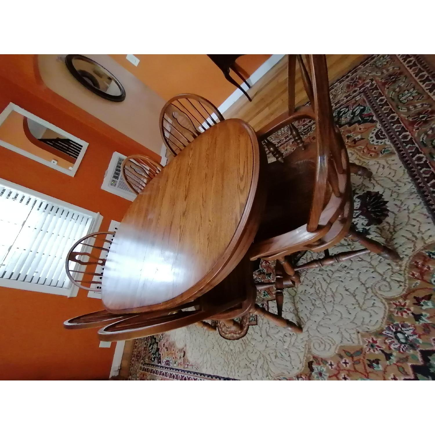 Raymour & Flanigan Extendable Dining Table w/ 6 Chairs - image-2