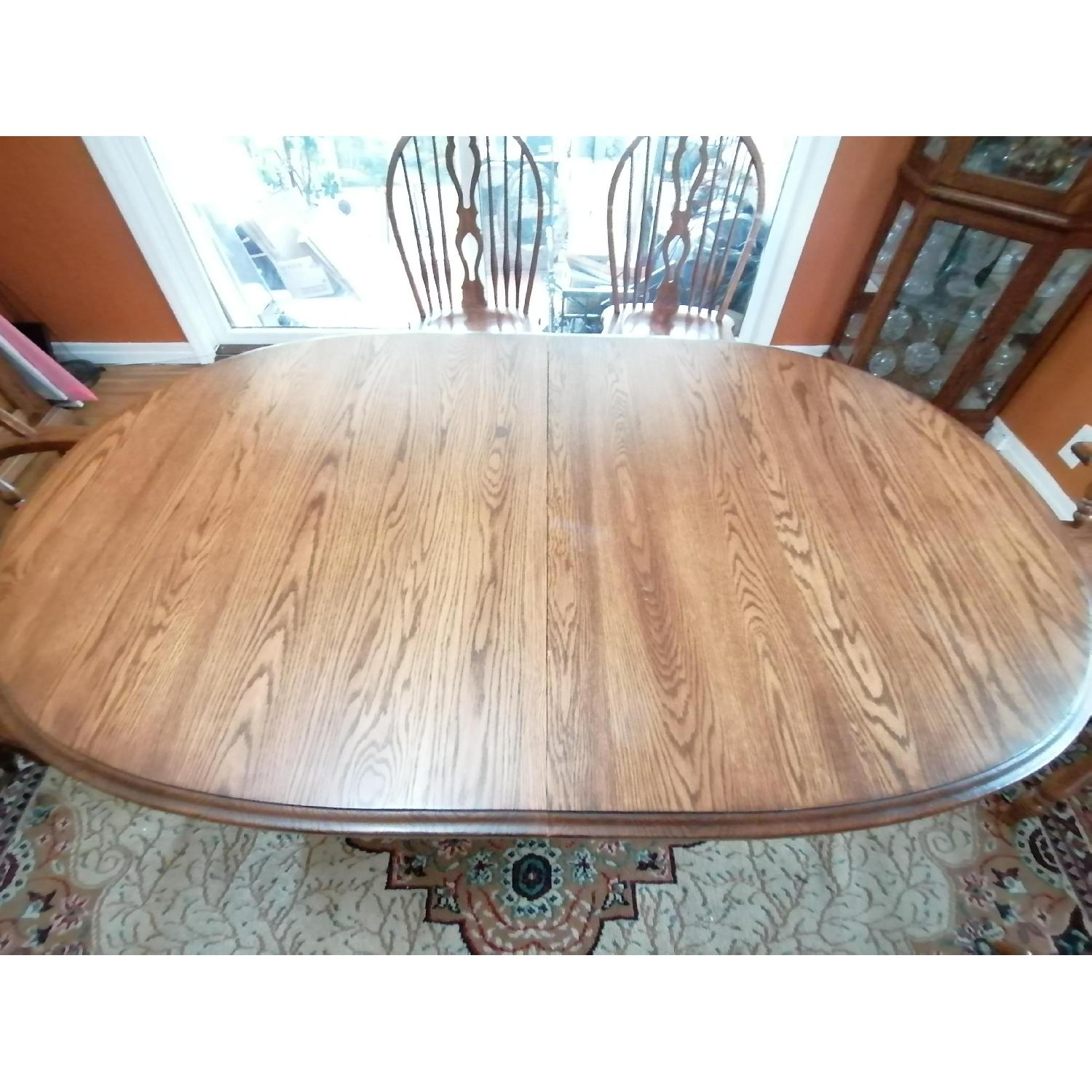 Raymour & Flanigan Extendable Dining Table w/ 6 Chairs - image-3