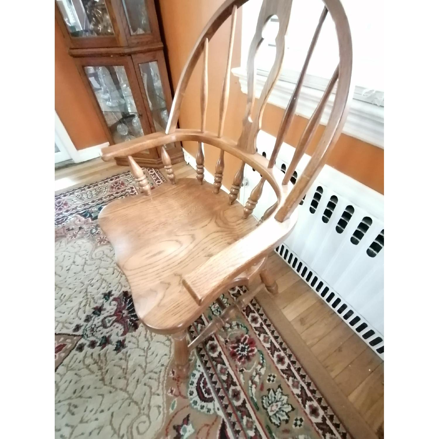 Raymour & Flanigan Extendable Dining Table w/ 6 Chairs - image-7