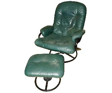 Vintage Recliner & Footstool