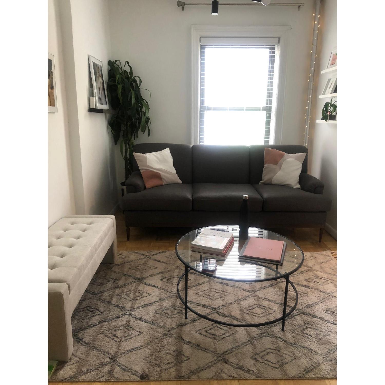 Grey Transitional 3 Seater Sofa - image-2