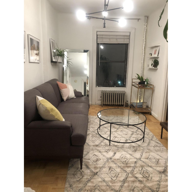 Grey Transitional 3 Seater Sofa - image-3