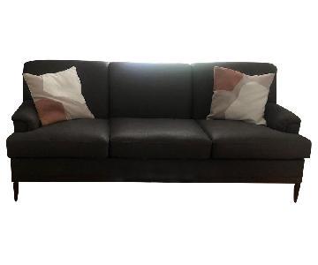 Grey Transitional 3 Seater Sofa