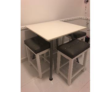 Ikea White Adjustable Height Table