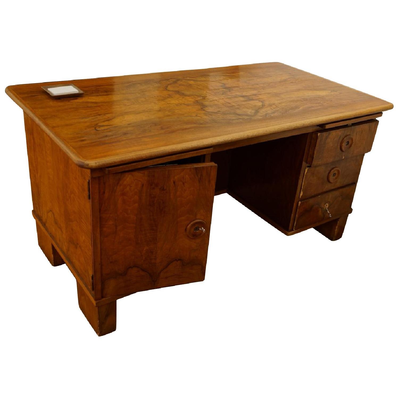 Biedermeier Walnut Desk