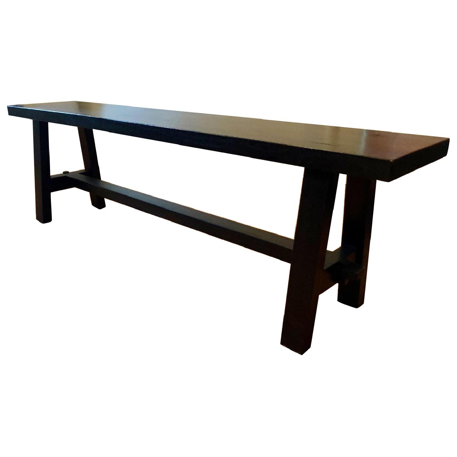 David Smith Solid Teak Bench - image-0