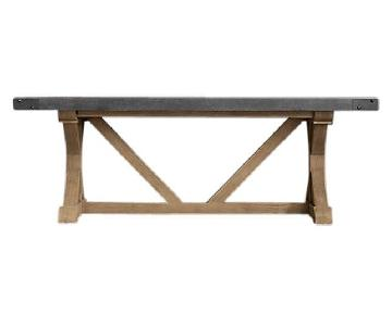 Restoration Hardware Salvaged Wood & Concrete Dining Table