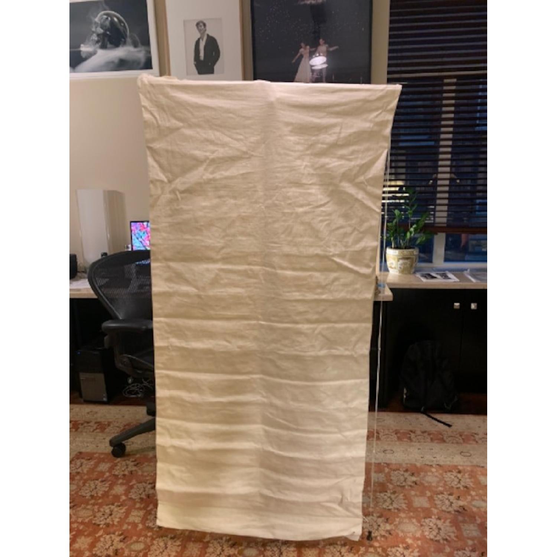 Handmade Linen Blackout Roman Shades - image-1
