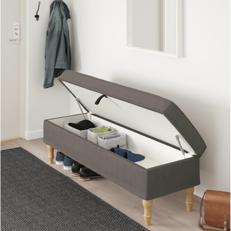 Ikea Grey Stocksund Bench - image-1