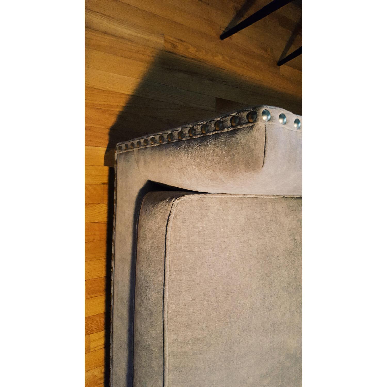 Paladin Dove Grey Down Nailhead Sofa - image-2