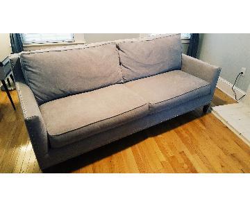 Paladin Dove Grey Down Nailhead Sofa