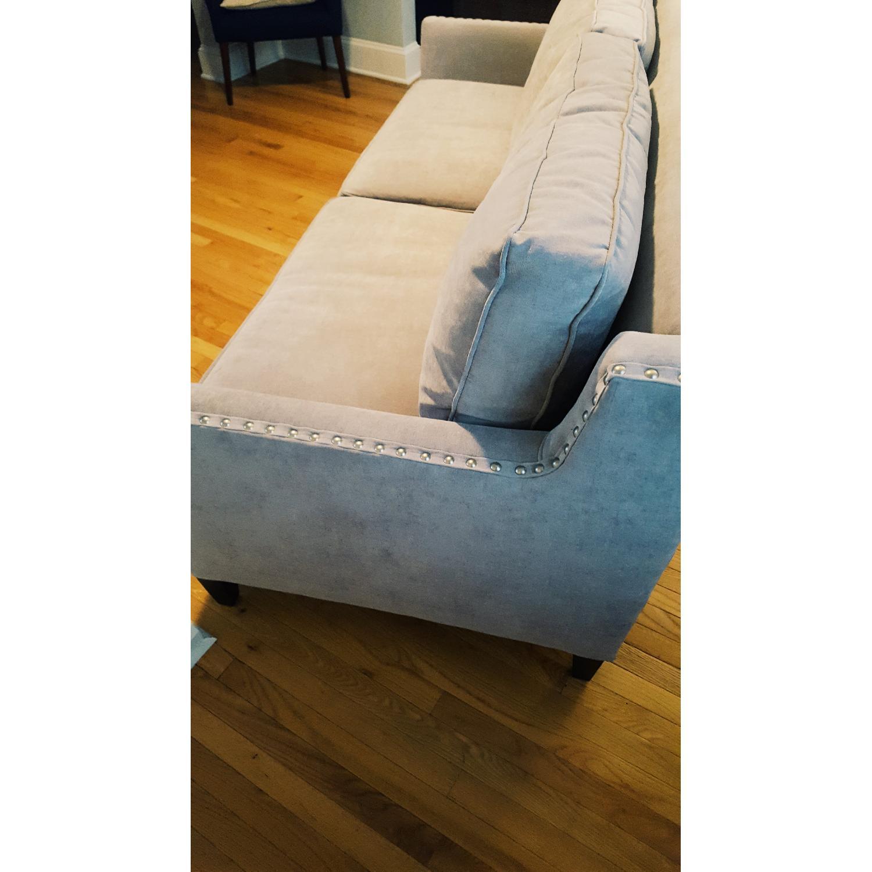 Paladin Dove Grey Down Nailhead Sofa - image-5