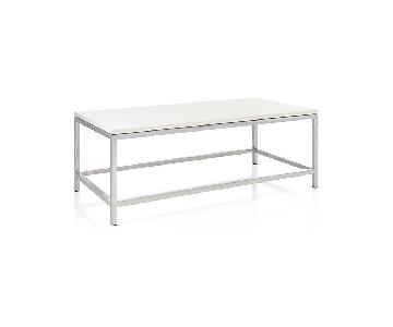 Crate & Barrel Era Limestone Rectangular Coffee Table