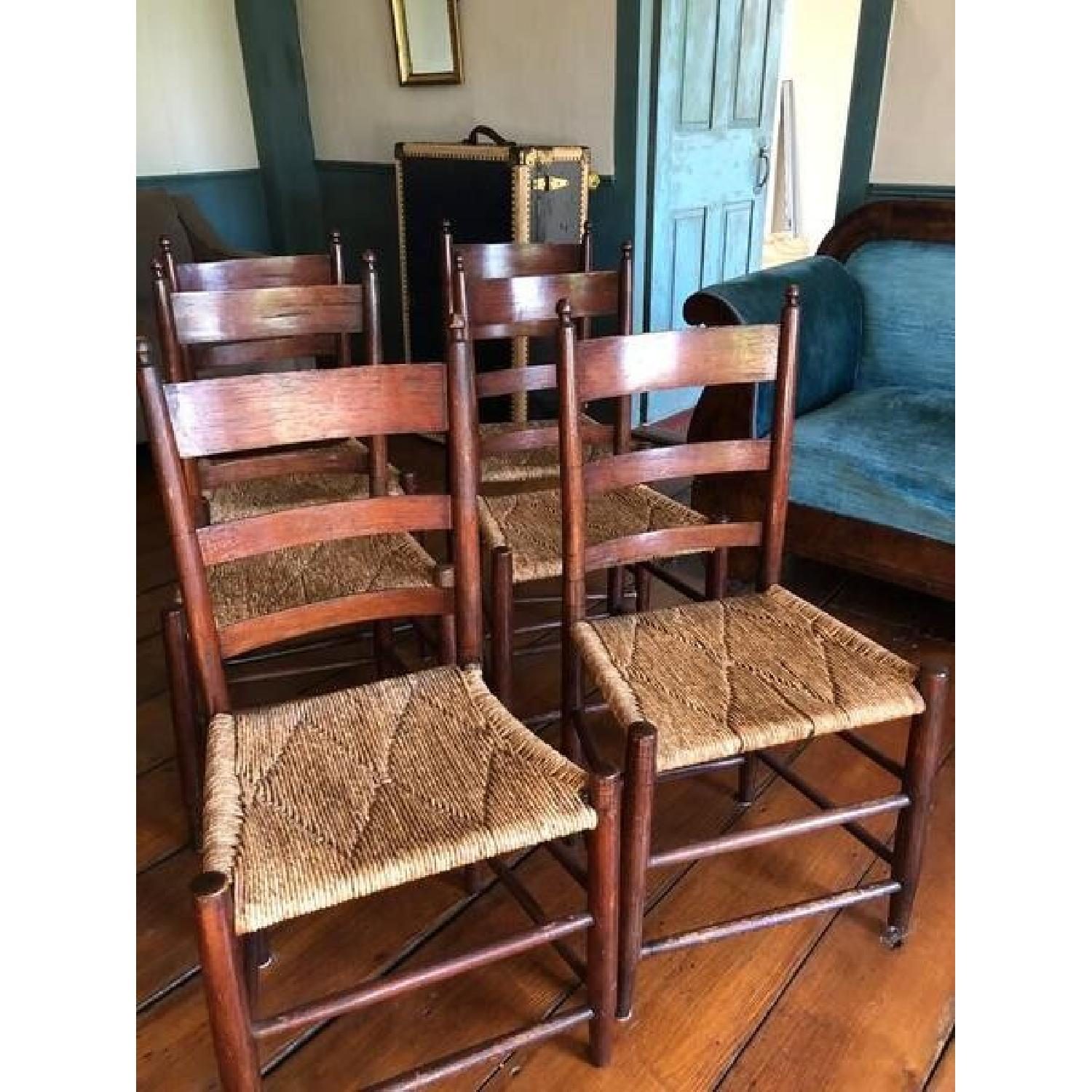 Vintage 19th Century Shaker Chestnut Dining Chairs - image-1