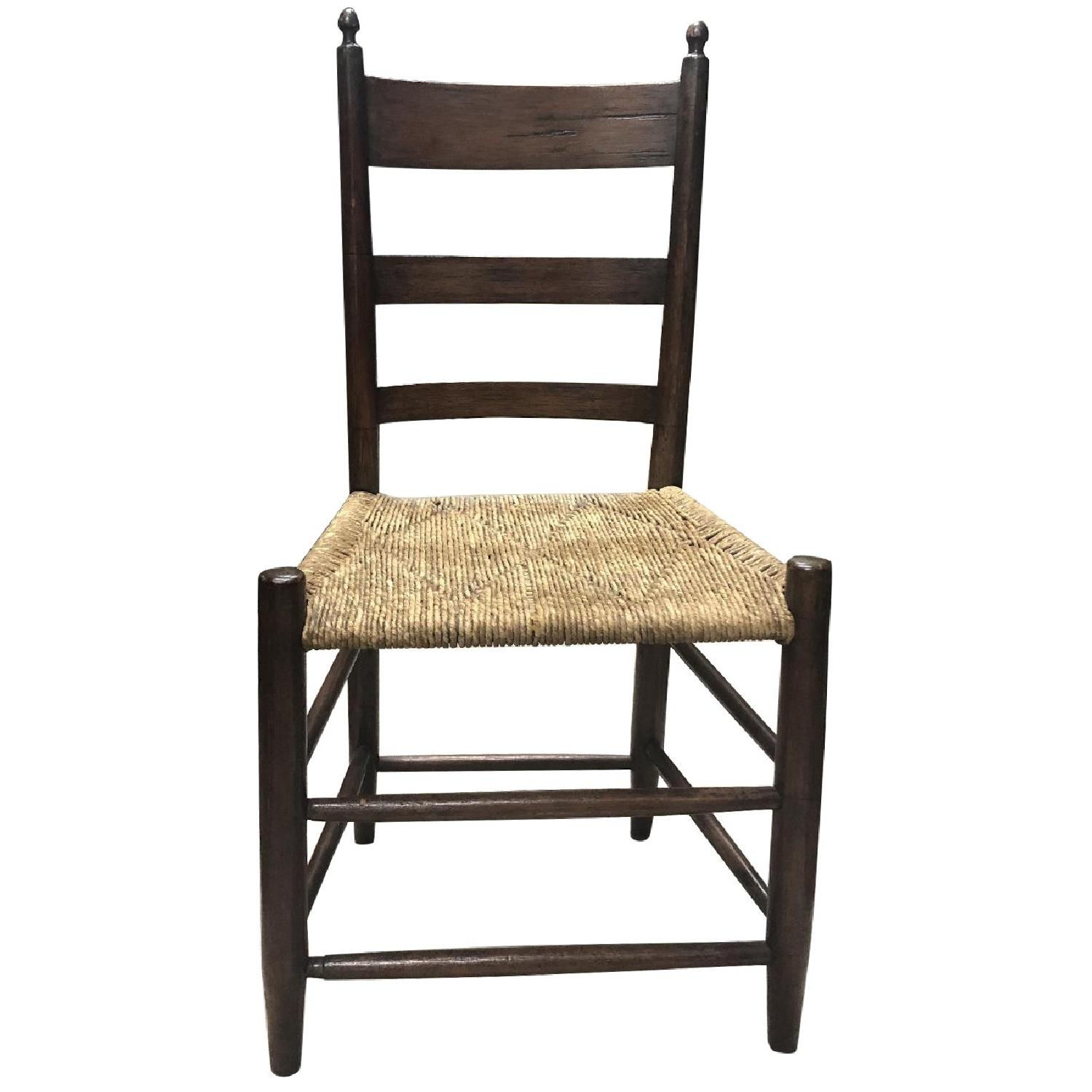 Vintage 19th Century Shaker Chestnut Dining Chairs - image-0