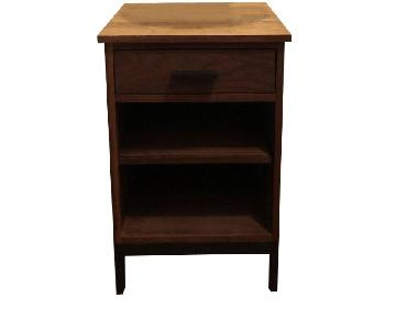 Room & Board Wood & Stainless Steel Nightstand