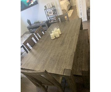 Macy's Canyon Dining Table w/ 4 Chairs & Bench