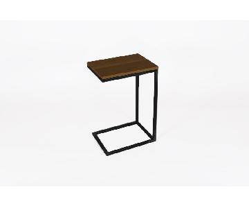 Industrial Modern Cantilever End Table