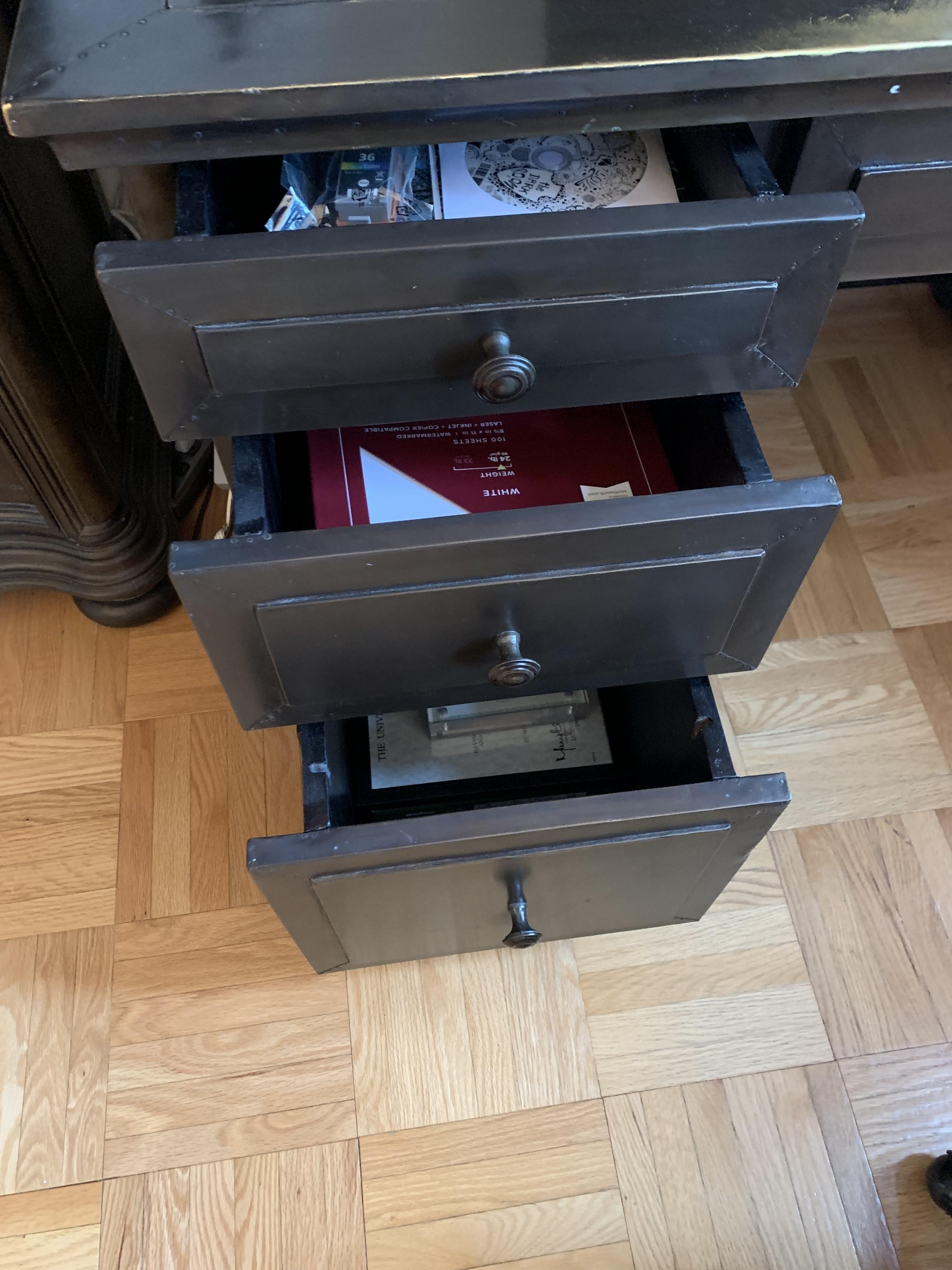 Restoration Hardware Annecy Metal-Wrapped Desk