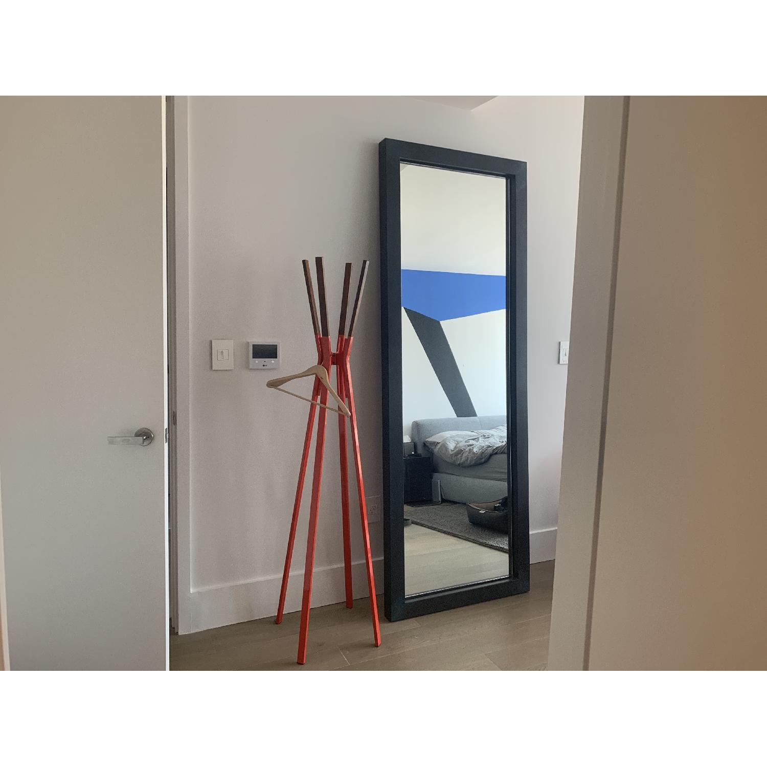 Room & Board Industry Leaning Mirror in Natural Steel - image-1