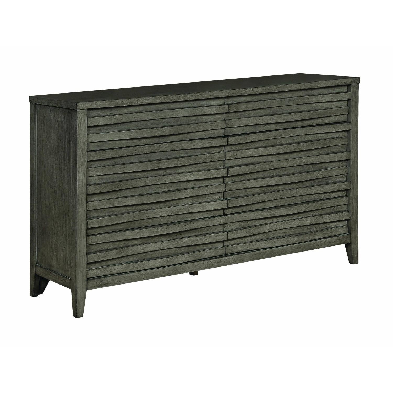 Modern Dresser in Dark Taupe w/ Wave-Like Drawer Face - image-3