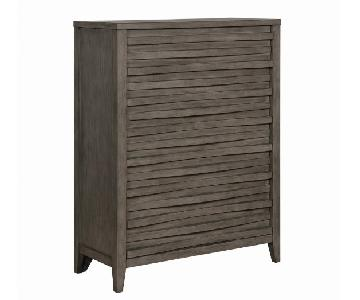 Modern Chest in Dark Taupe w/ Wave-Like Drawer Face